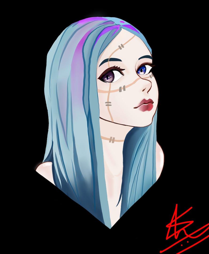 Mahito ~(-v-)~ Illust of Dark Angel JujutsuKaisenFanartContest JujutsuKaisen villain mahito genderswap