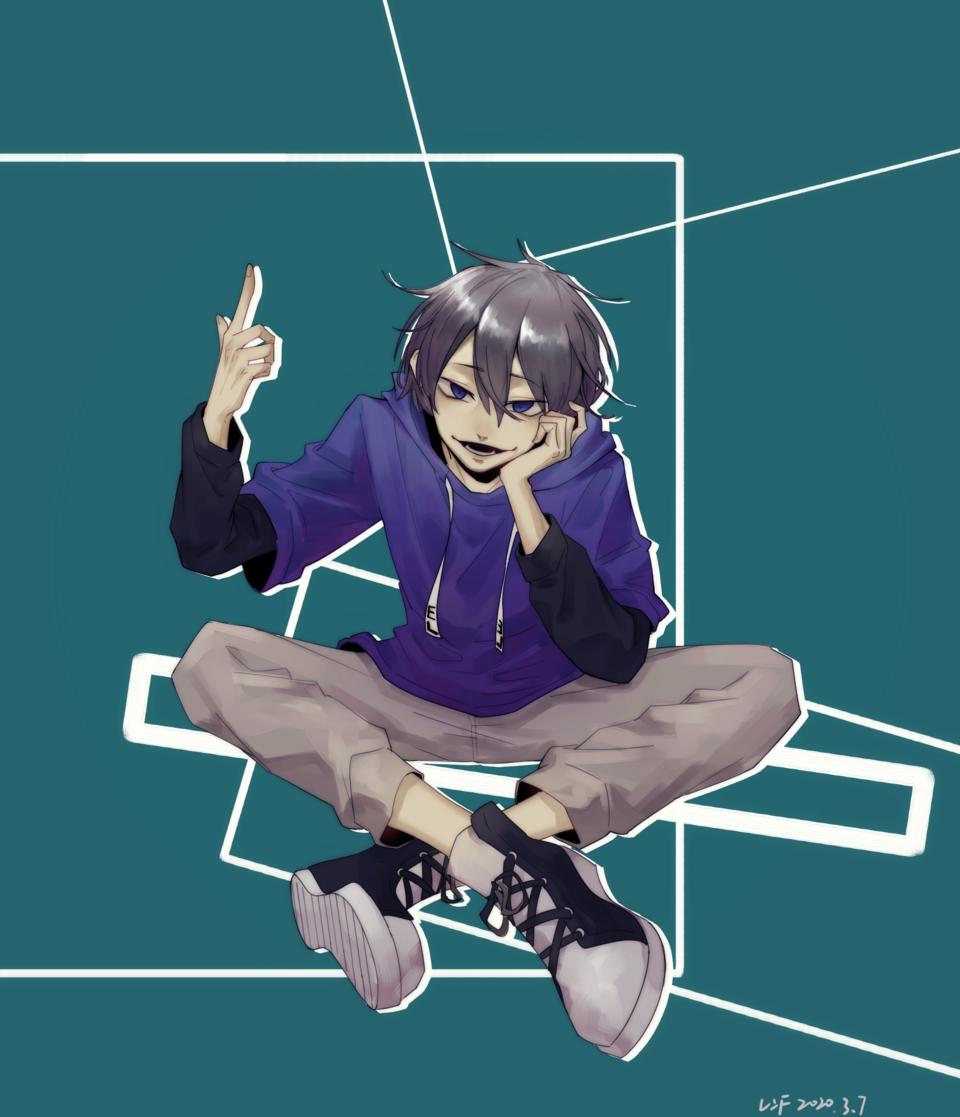 oc Illust of 银炽连F medibangpaint characterdesign 孩子厨 oc