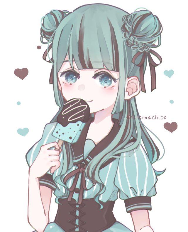 🍫🌱 Illust of しろなち original girl チョコミント medibangpaint illustration sailor_uniform