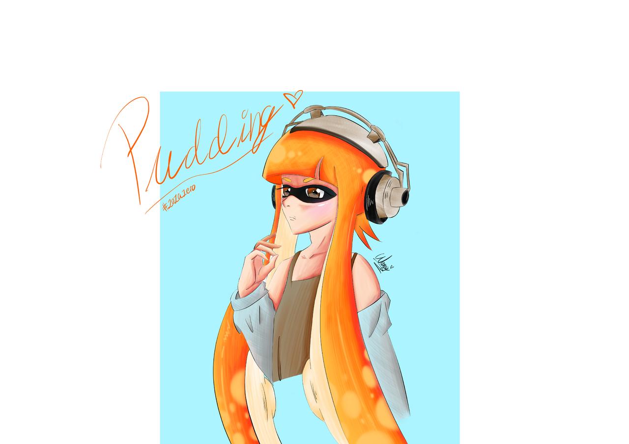 Pudding with my style. Thank you Zoza ❤️ Illust of ~Woommy~ medibangpaint woomy pudding style squidgirl my zozazero Nintendo Splatoon