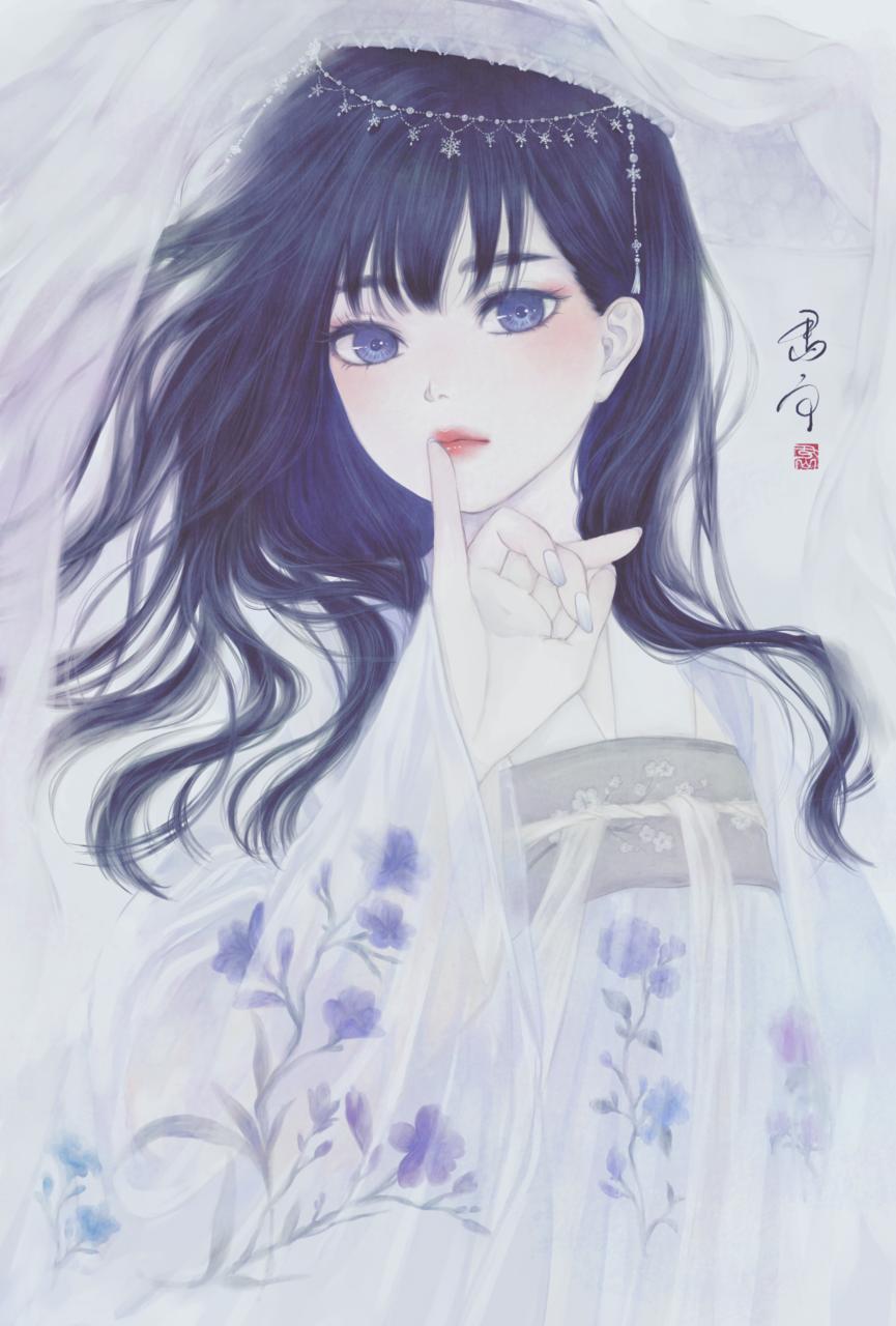 氷下麗人 Illust of 丑山雨 中華 girl iPad medibangpaint 漢服