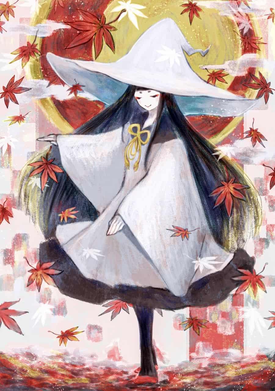 紅葉の雨と魔女