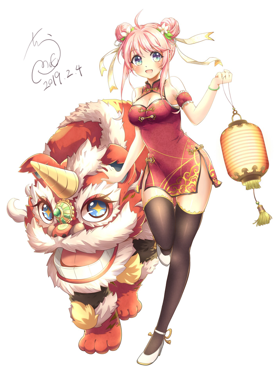 新年快乐 Happy new year! Illust of Crome萌 medibangpaint