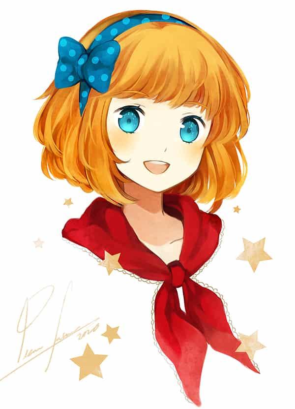Charlotte Illust of Pianofairie cute girl oc original