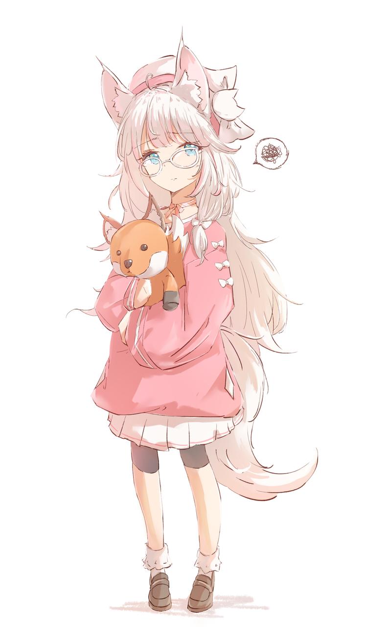 幼い狐🦊 Illust of みずき@ミッキー September2020_Contest:Furry April.2020Contest:Color けもみみ girl fox original