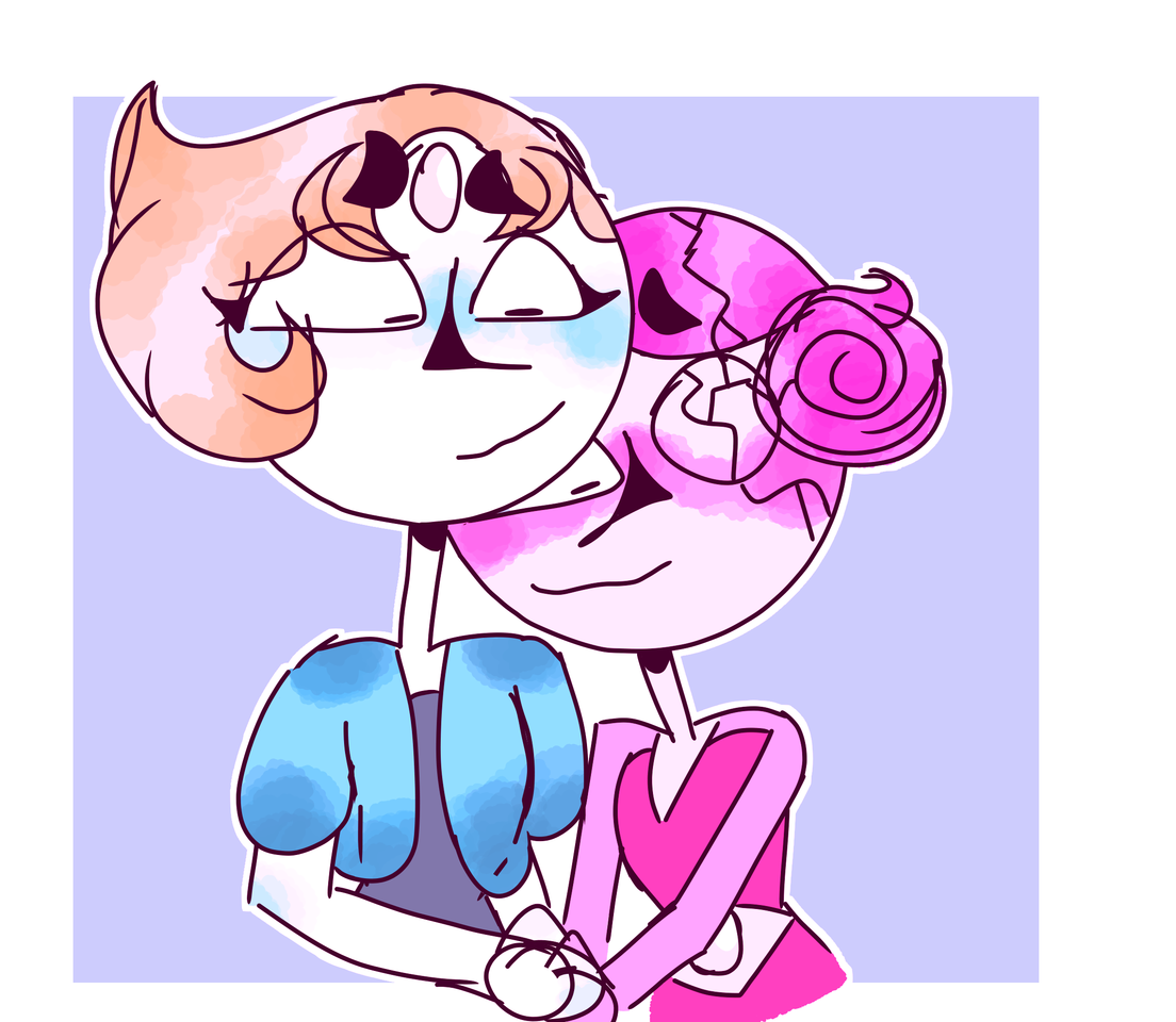 Pearl and Pink Pearl Steven Universe Fanart