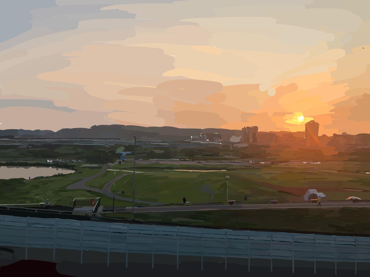 風景/疏洪蘆提公園 Illust of JeFan brag.your.country scenery sketch 公園