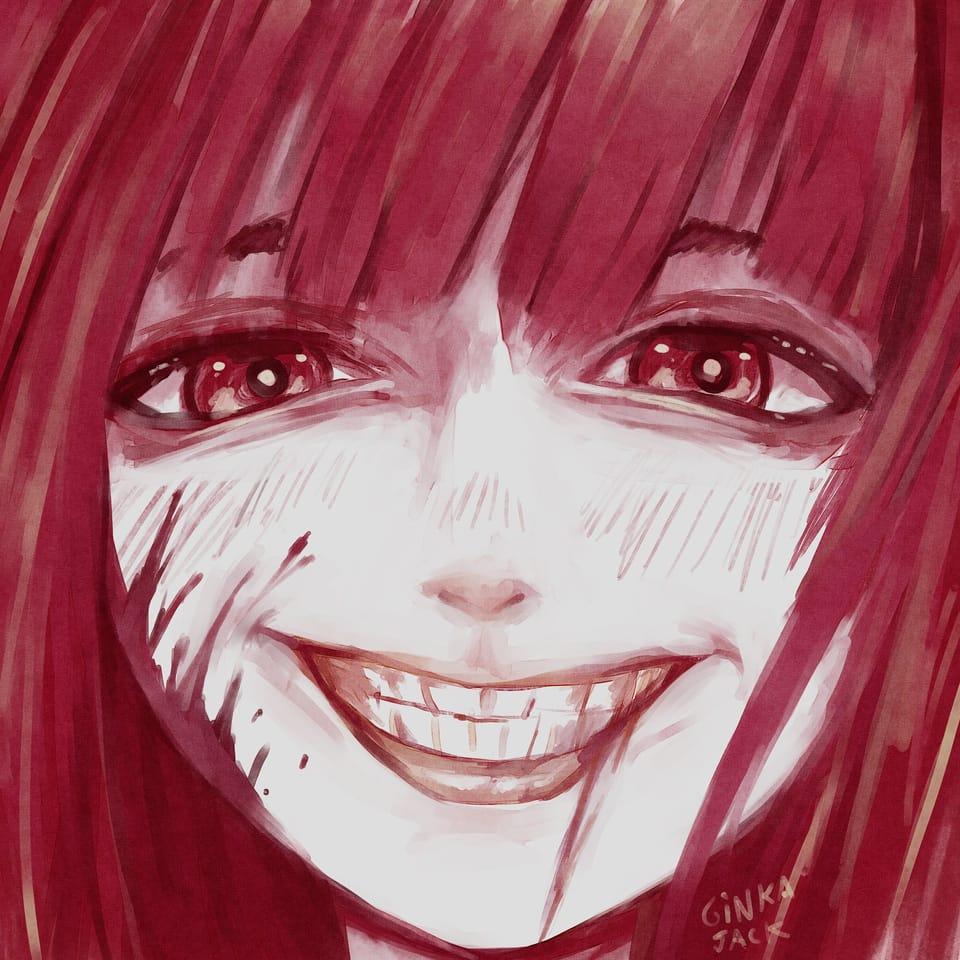 Smile Illust of Ginka-jack red girl color smile