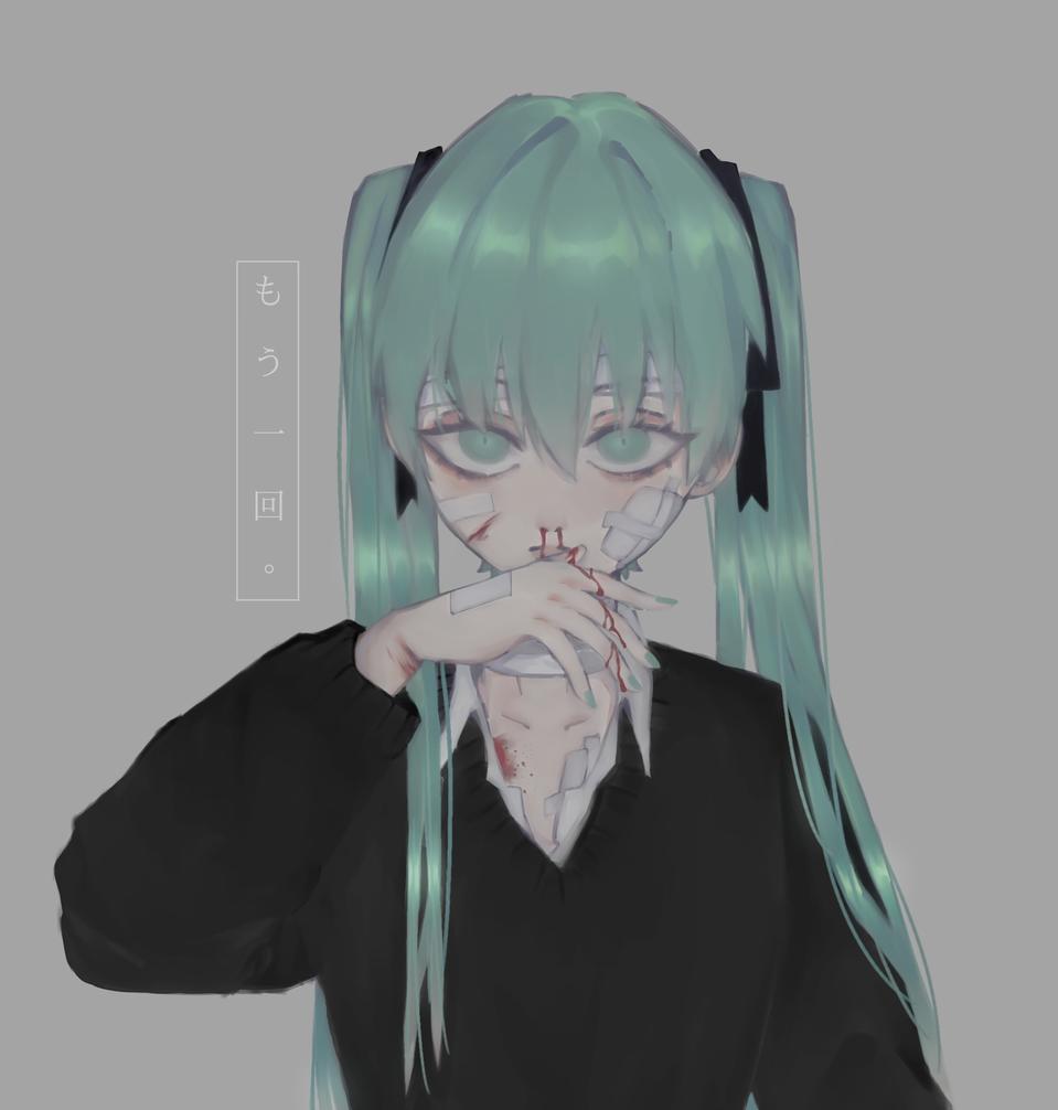 bustin jieber Illust of xxuzuyu ARTstreet_Ranking drawing hatsunemiku illustration VOCALOID anime