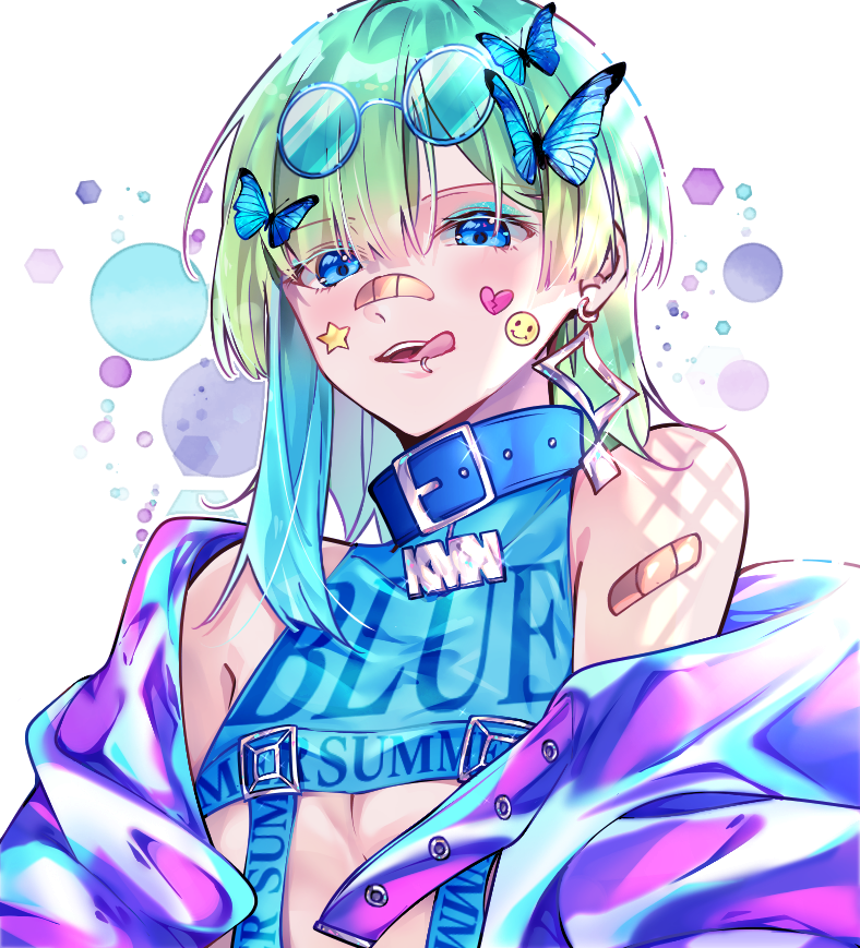 GETCHA☆ Illust of かみな January2021_Contest:OC medibangpaint original girl blue 蝶々