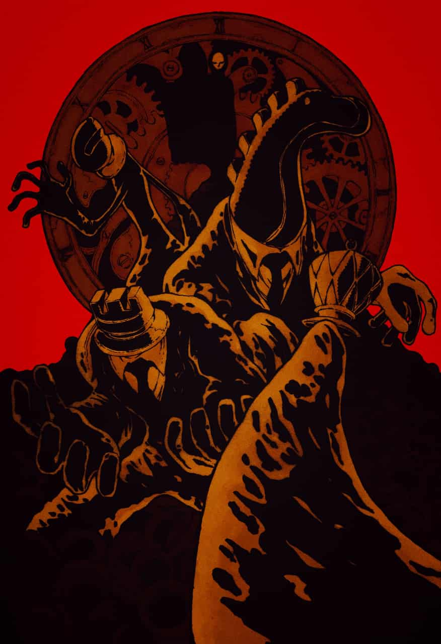 【BB49-15】モーフィー時計の午前零時 Illust of ウスイソト モーフィー時計の午前零時 BB49 フリッツ・ライバー