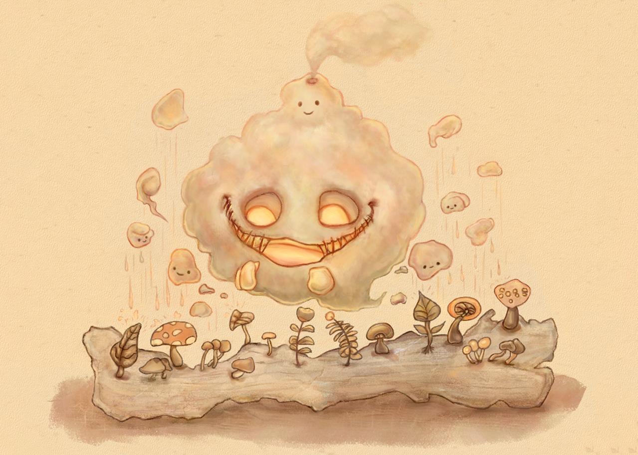冒煙小怪 Illust of badcoffee5392 March2021_Creature original illustration 原創角色 digitalpainting cute character Colorful kawaii