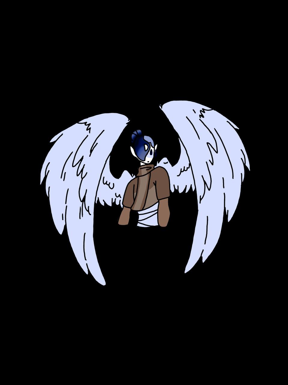 Wings Illust of HeadHonchoCodex medibangpaint dark HeadHonchoCodex blue scarf wings birds Emo oc boy