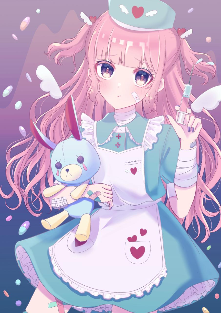 お注射嫌がったらいけないんですよぉ!💉 Illust of じゅにねう ナース girl original