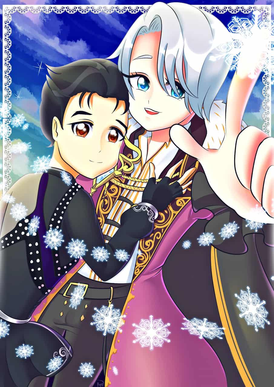 Yuri on ICE!!! Lovers Illust of poppyrous VictorNikiforov Yuri!!!_on_Ice ヴィク勇 YuriKatsuki