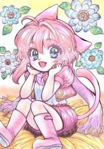 習作 Illust of コトノ マフラー girl cute cat_ears Copic original