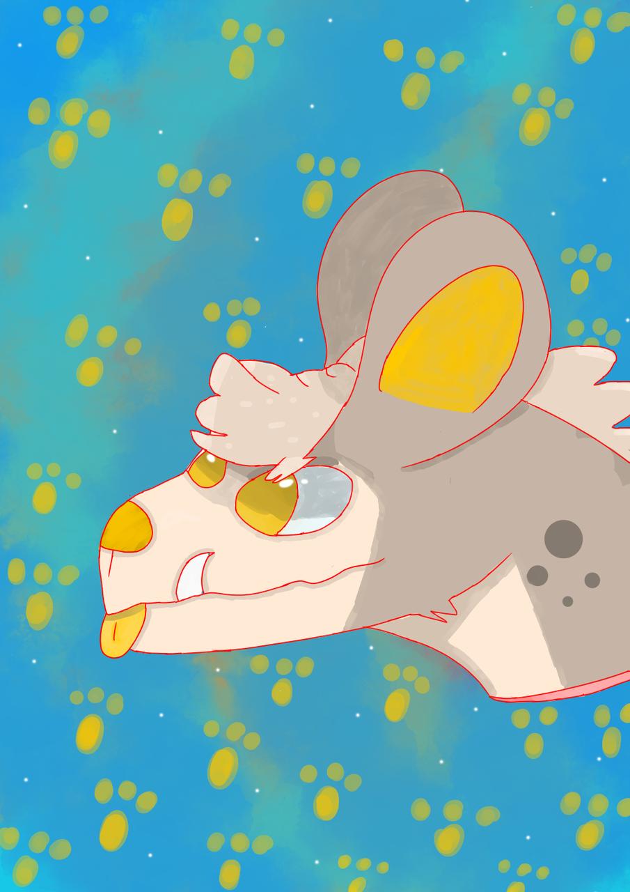 for lamppost hyena :3 Illust of ✨random pollito✨ medibangpaint