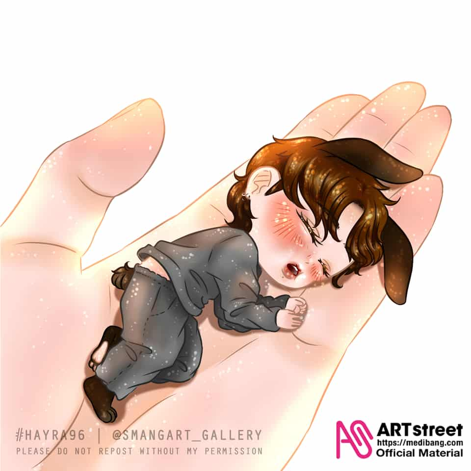 Baby Bunny Jungkook Illust of Hayra96 tracedrawing3rd bunny chibi hayra96 Trace&Draw【Official】 BTS cute smangartgallery Jungkook