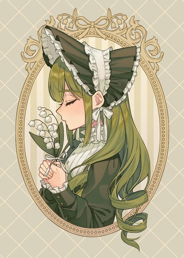 すずらんの君を想う Illust of カロクチトセ 創作男女 original boy girl flower
