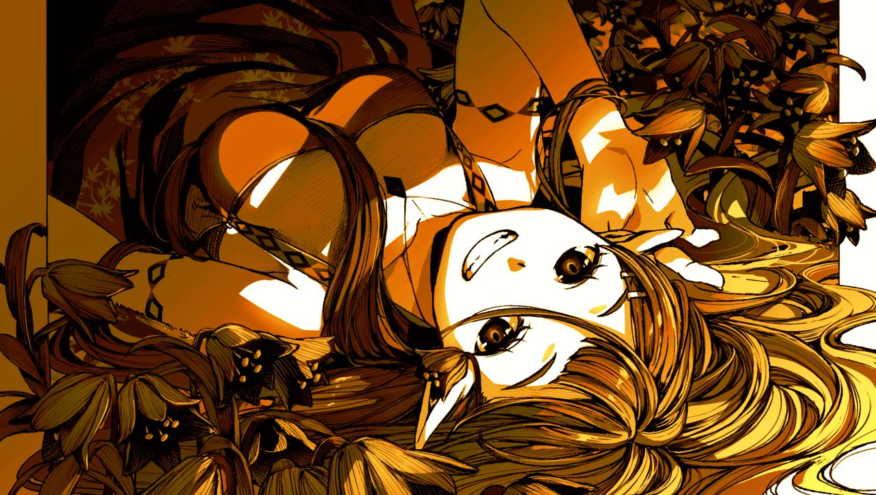 少し変わった女の子 Illust of 通行人 May2021_Monochrome