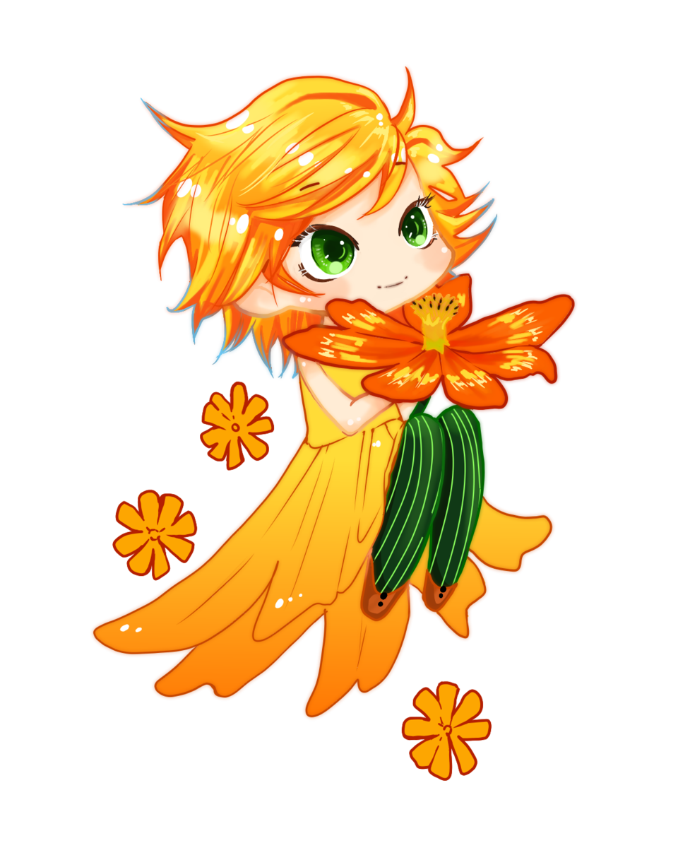 Cosmos Illust of Nass girl flower