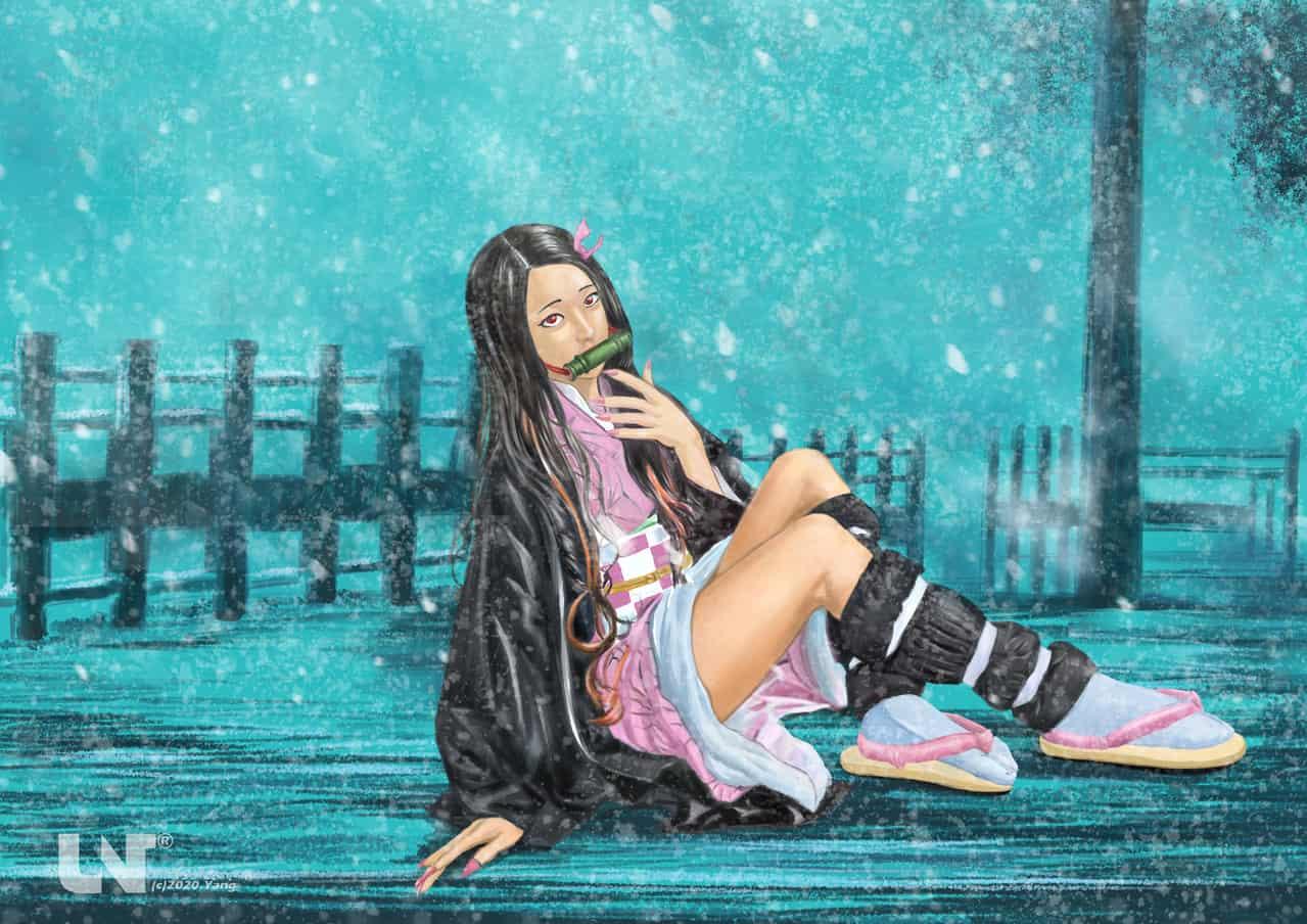 雪風中的彌豆子 Illust of Yang Nan DemonSlayerFanartContest KimetsunoYaiba KamadoNezuko