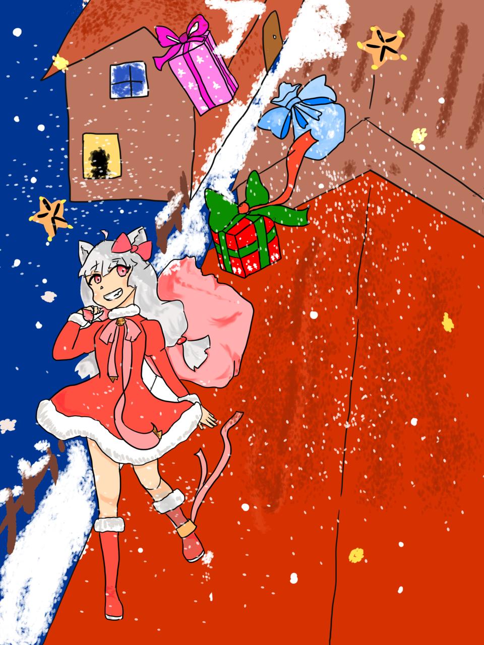 飛天禮物 Illust of Sakura December2020_Contest:Santa 貓女