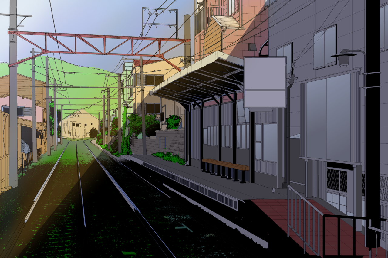 station Illust of Kayi_Chan Background_Image_Contest BackgroundImageContest_Coloring_Division medibangpaint contest Trending background station