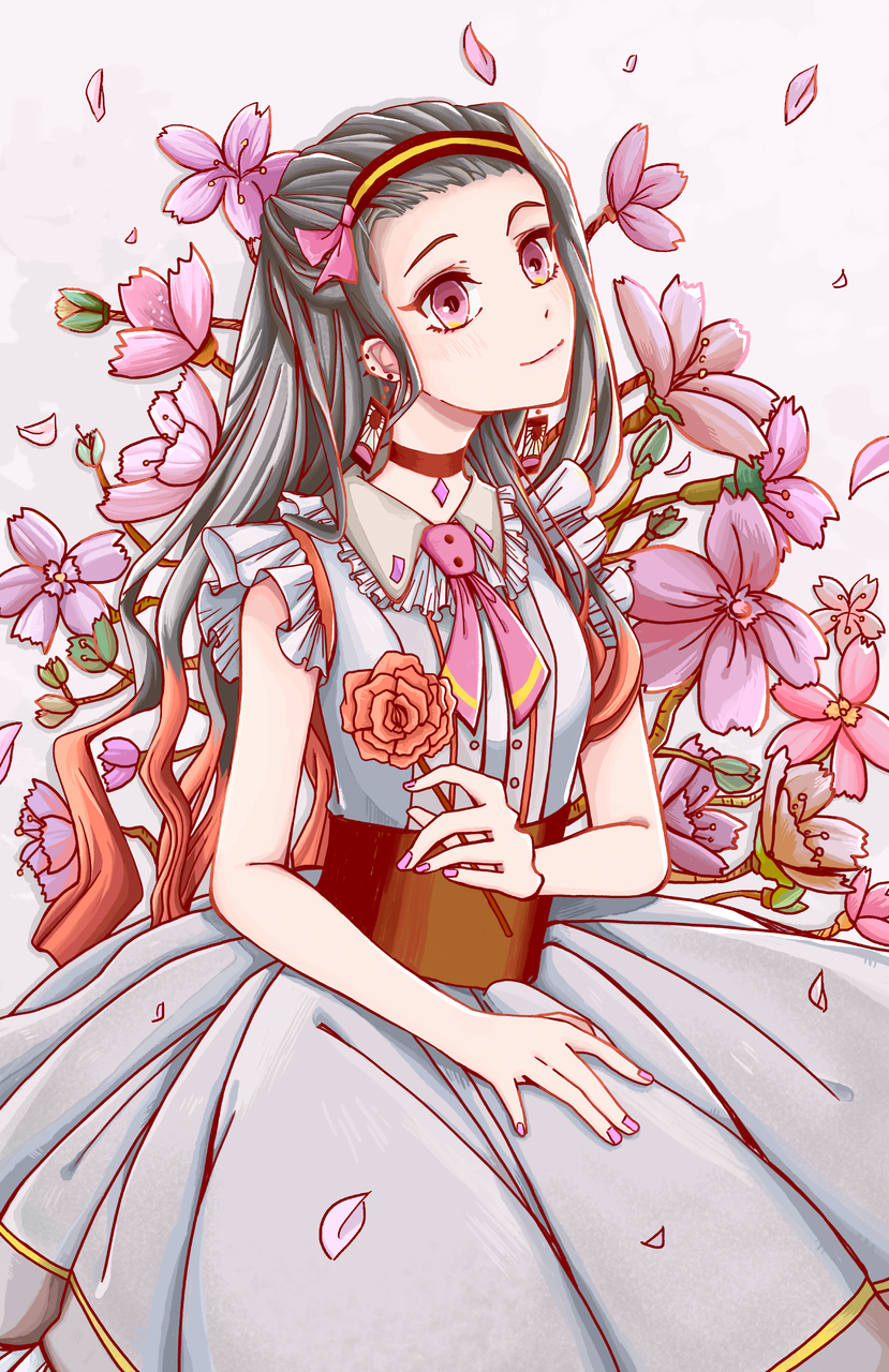 櫻花下的彌豆子 Illust of 唯 DemonSlayerFanartContest girl KimetsunoYaiba