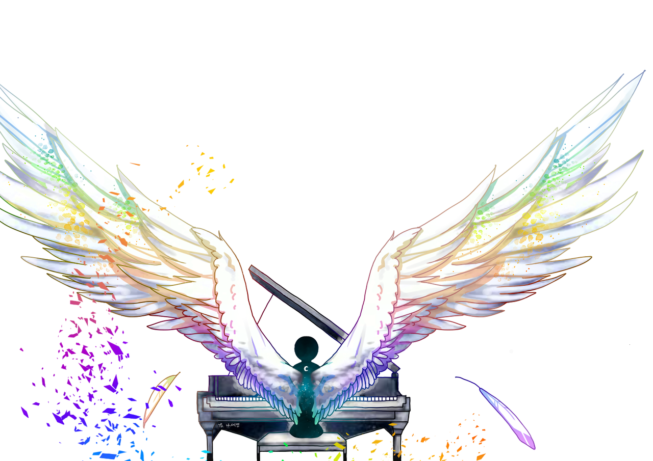 Illust of 플양이 medibangpaint piano wings