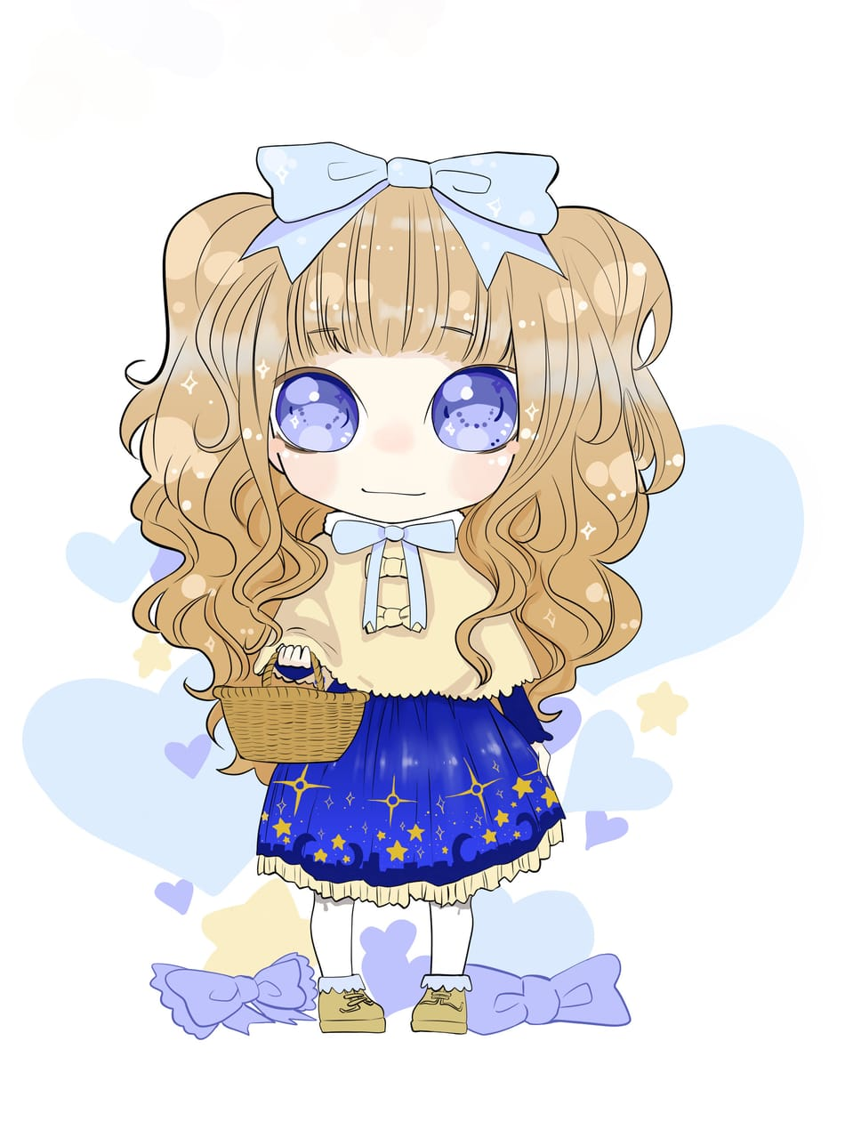 Blue Lolita Illust of Nass anime girl lolita chibi blue oc cute