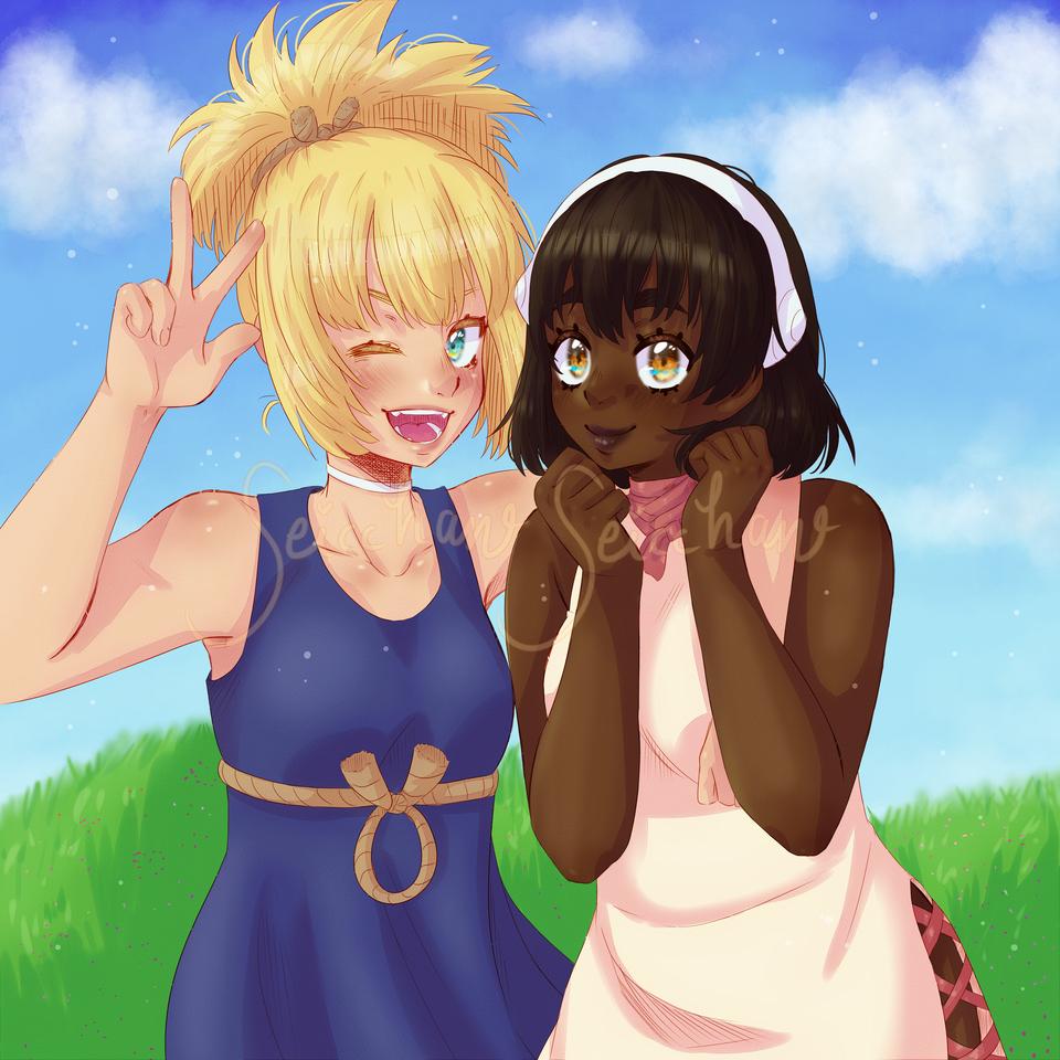 Kohaku and Yuzuriha (Dr Stone)