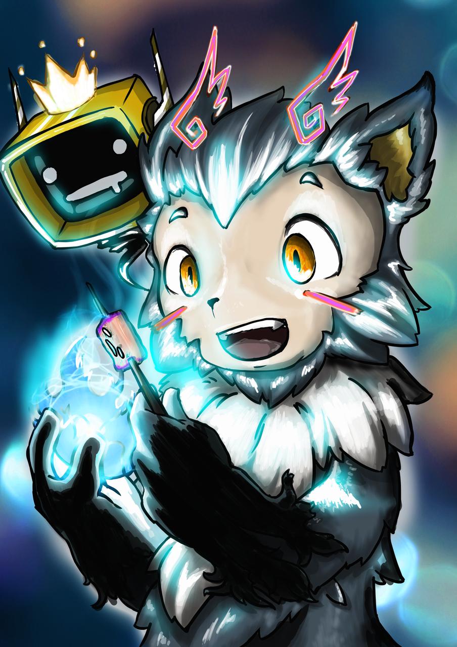 Chubby marshmallow creature Illust of Somachi MF96 March2021_Creature original Emo oc anime creature youkai kawaii manga drawing beast cute