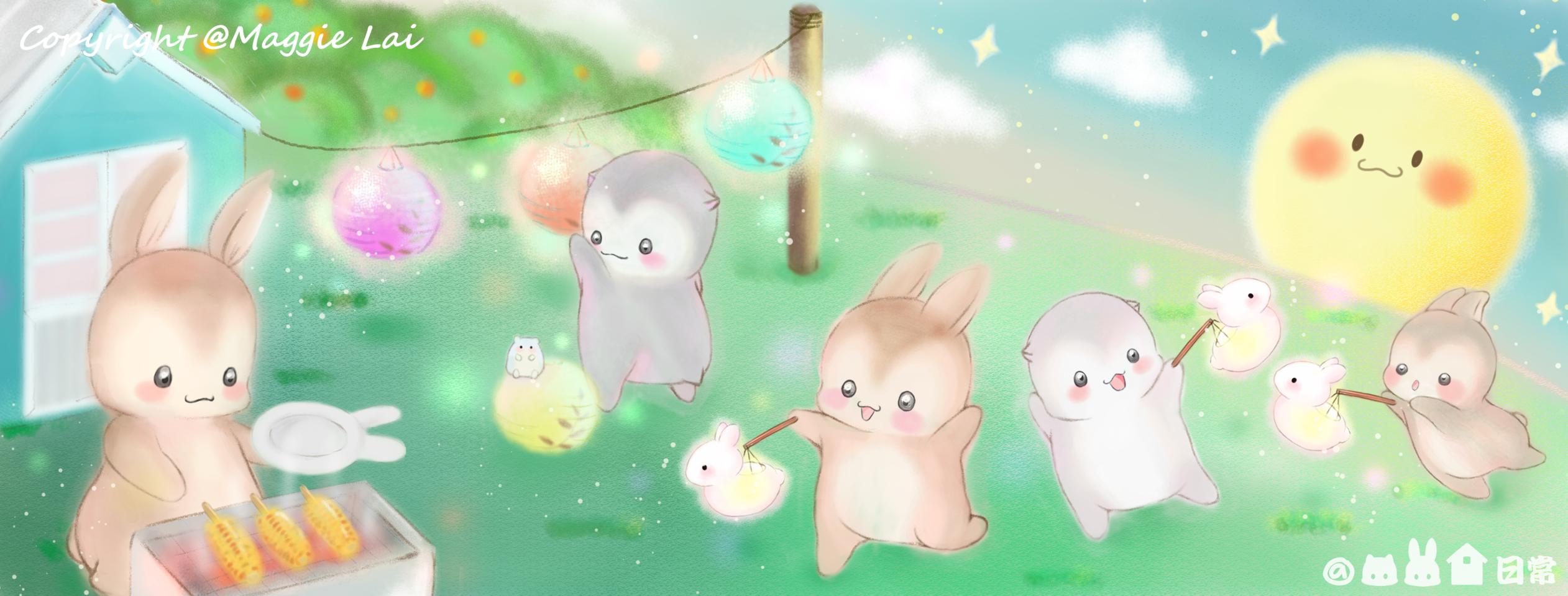 鼠兔家日常-中秋節 Illust of 玲兒 September2020_Contest:Furry