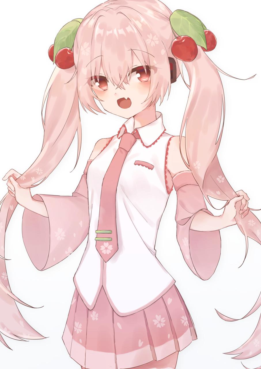 桜ミク Illust of みぞれ 桜ミク hatsunemiku VOCALOID