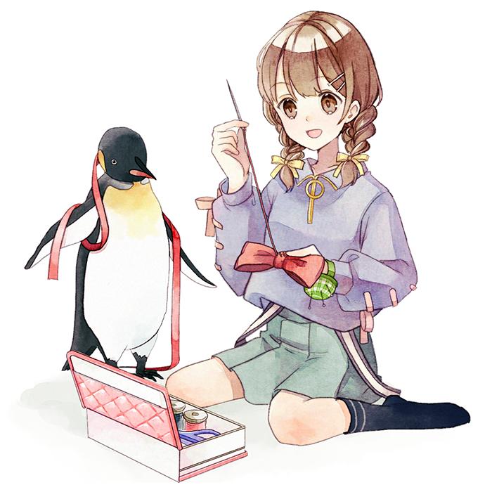 裁縫女子 Illust of ちろりるら 裁縫 girl Penguin
