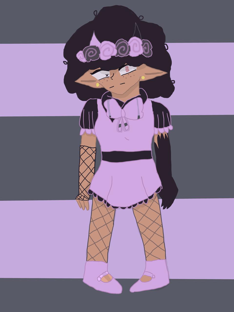 this is Lil pastel goth devil- (read desc) Illust of Lil devil (Baku mode) pastelgoth cute fnf alternateuniverse oc mod