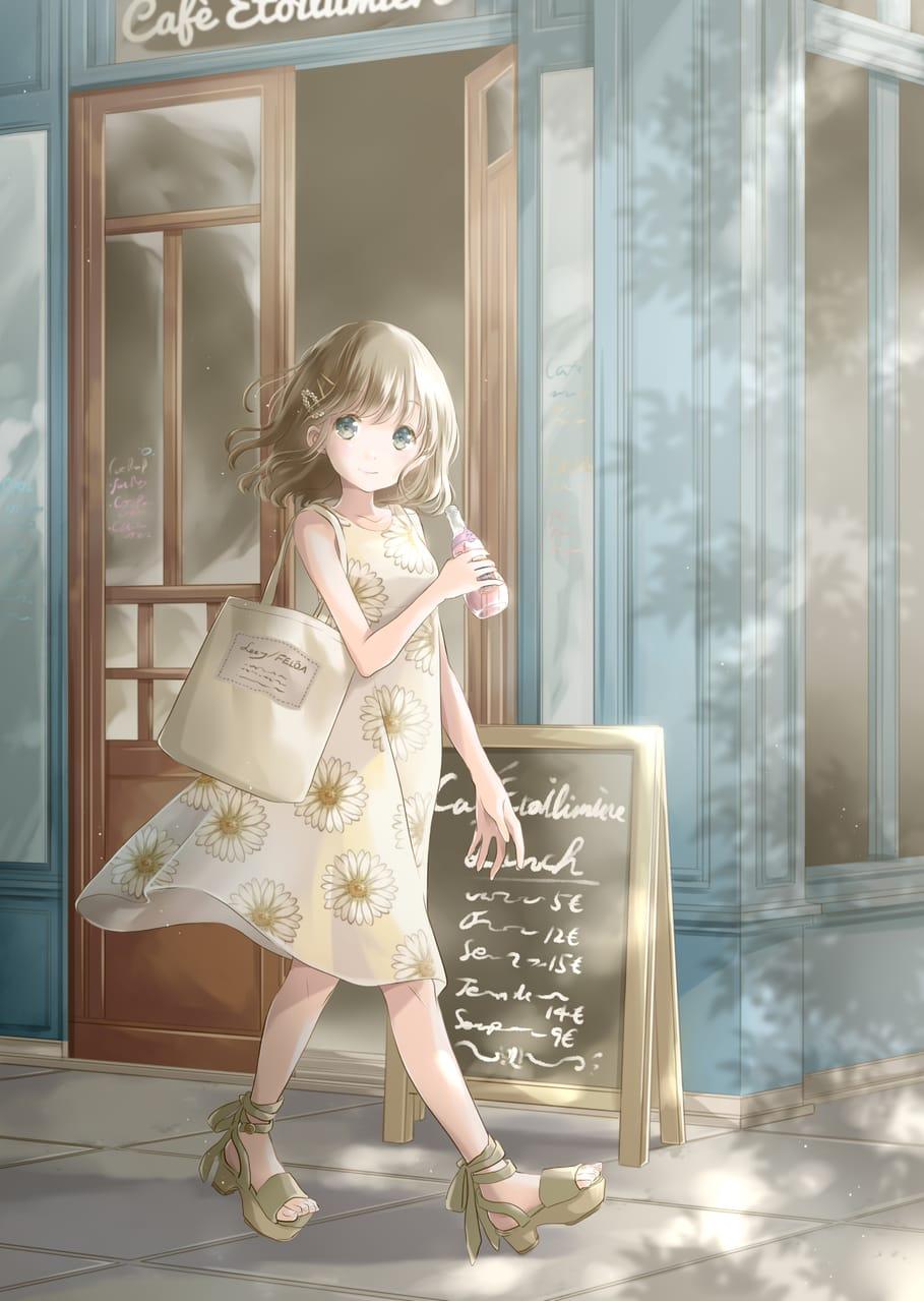 カフェとソーダ Illust of 星茨まと original girl summer