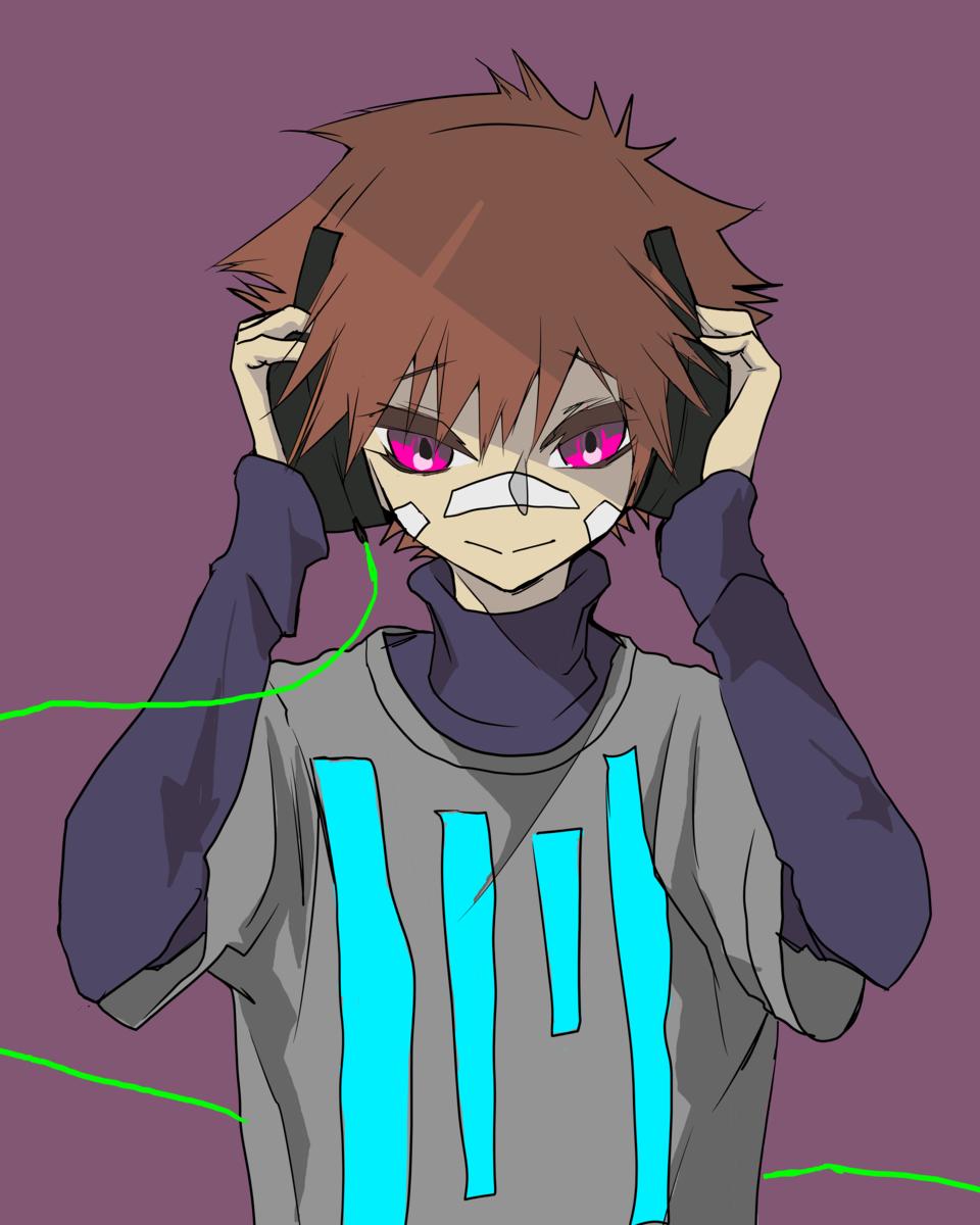 Illust of Nass medibangpaint music neon boy anime headphones oc