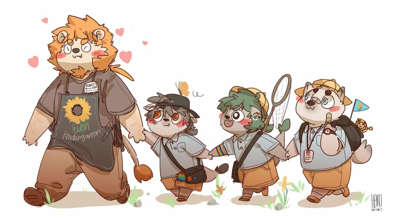 ELION幼稚园 Illust of HAKUMIMI September2020_Contest:Furry furry