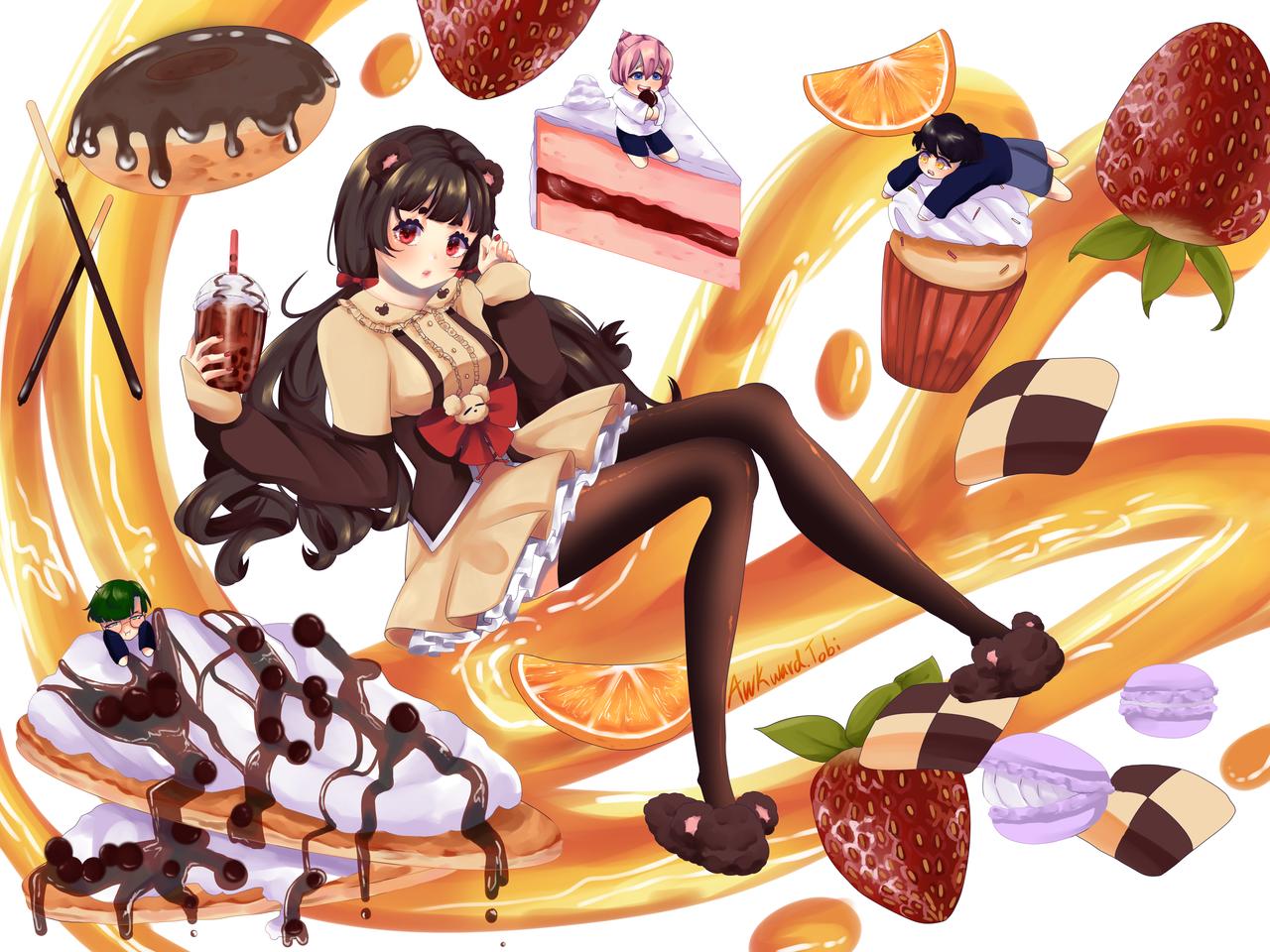 Honeybear Illust of AwkwardTobi food
