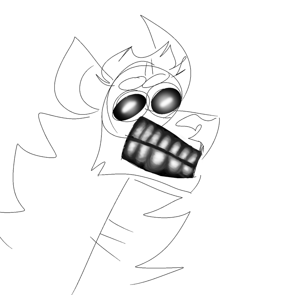 it's 6 am Illust of Big Yeen medibangpaint doodle meme fursona sketch spottedhyena hyena