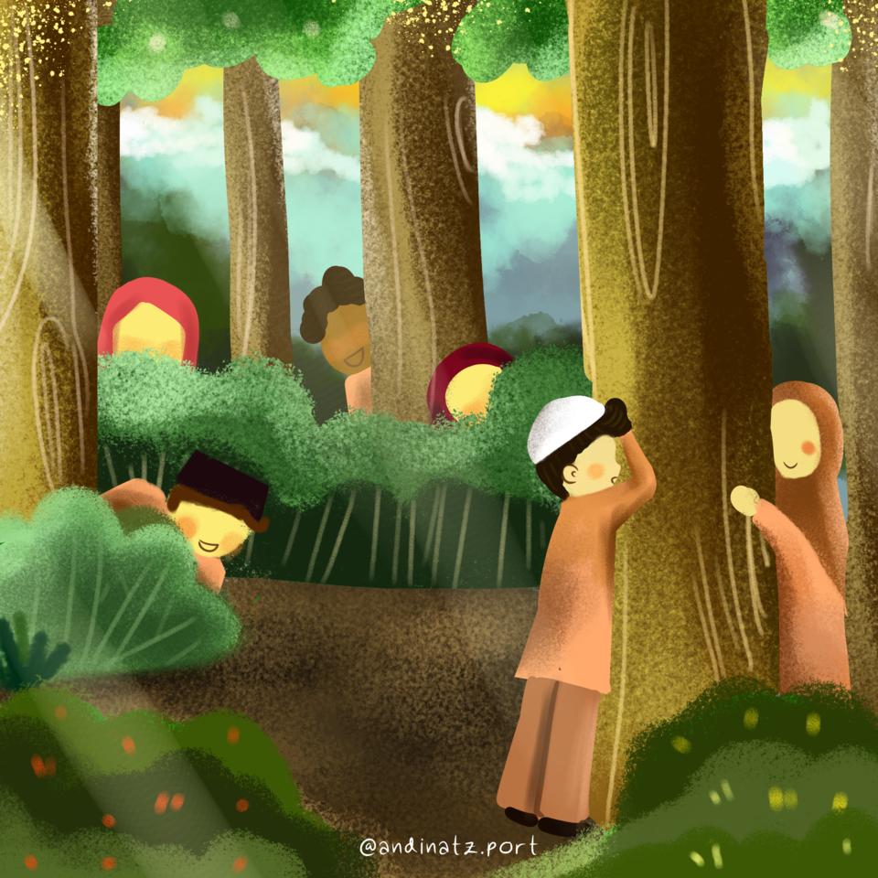Jumpritan (hide and seek) Illust of Andinatz medibangpaint iPad_raffle