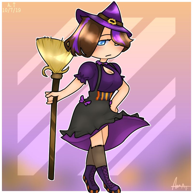 🧙♀️🕷Witchy Angela: Halloween Outfit 🎃