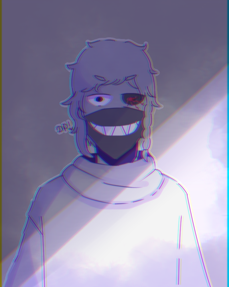 Dark Illust of Mfg53 oc medibangpaint Ghoul boy owo