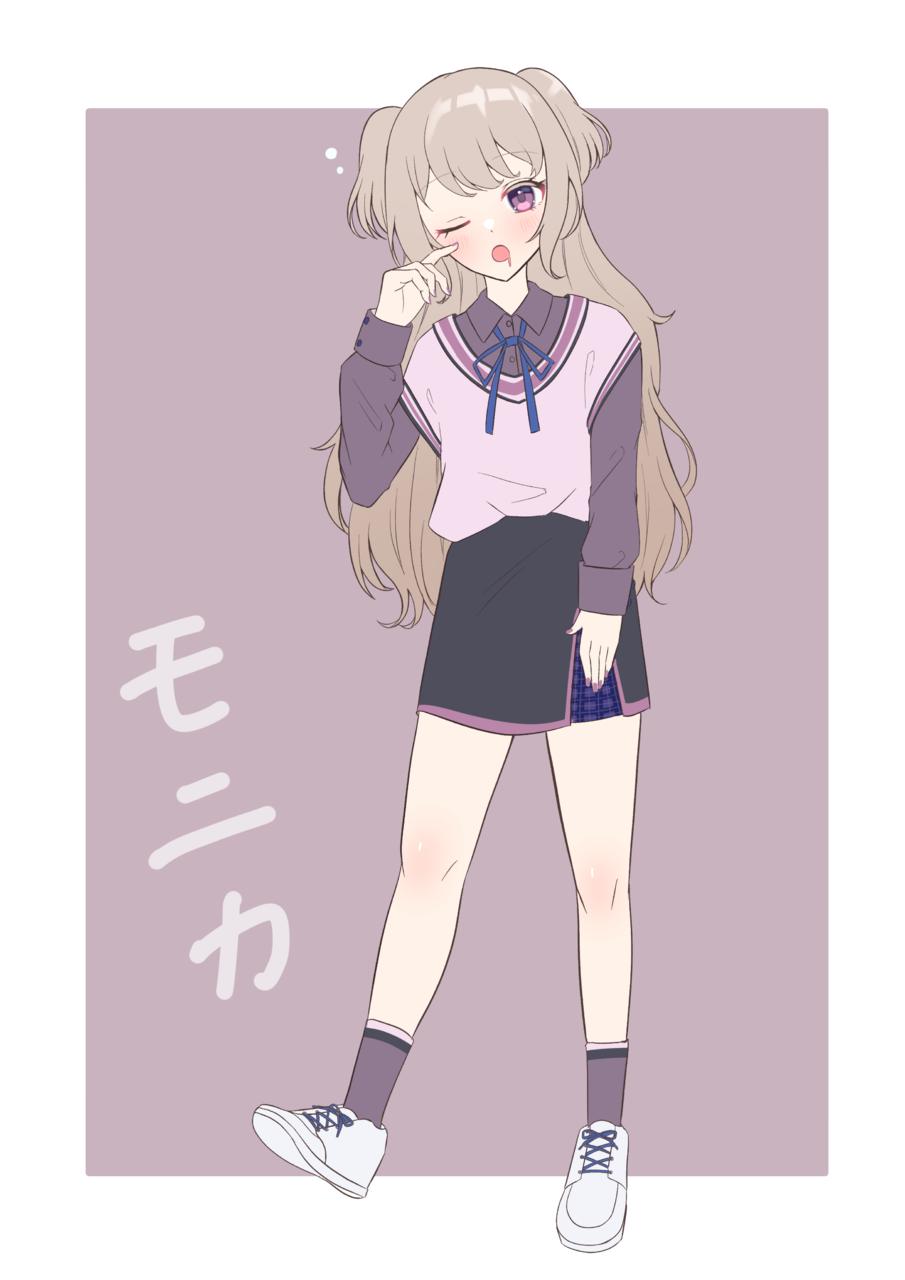 モニカちゃん Illust of じゅにねう JK 女子高生 original girl
