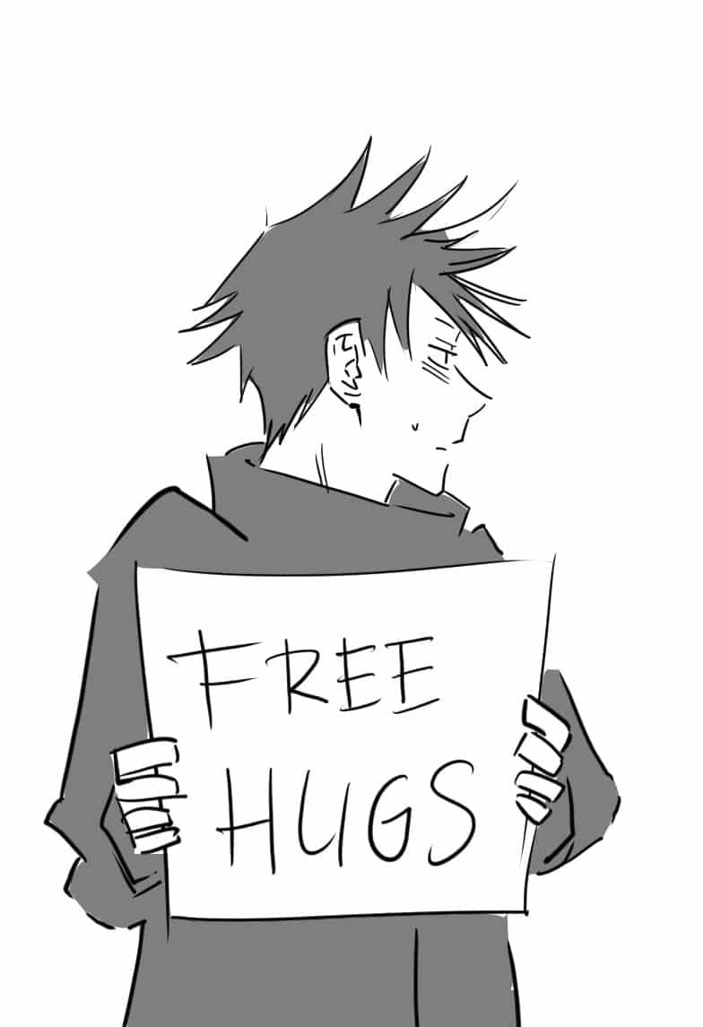 Huggu shite? Illust of Lear lol fanart Megumi_Fushiguro hug art JujutsuKaisen
