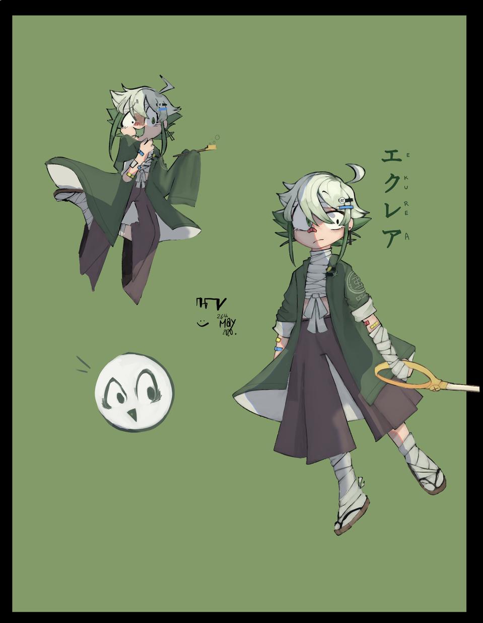[MO4] gijinka Ekura! (not official) Illust of Kegezイラスト medibangpaint painting MO4 digital RPG MarikinOnline4 MyArt