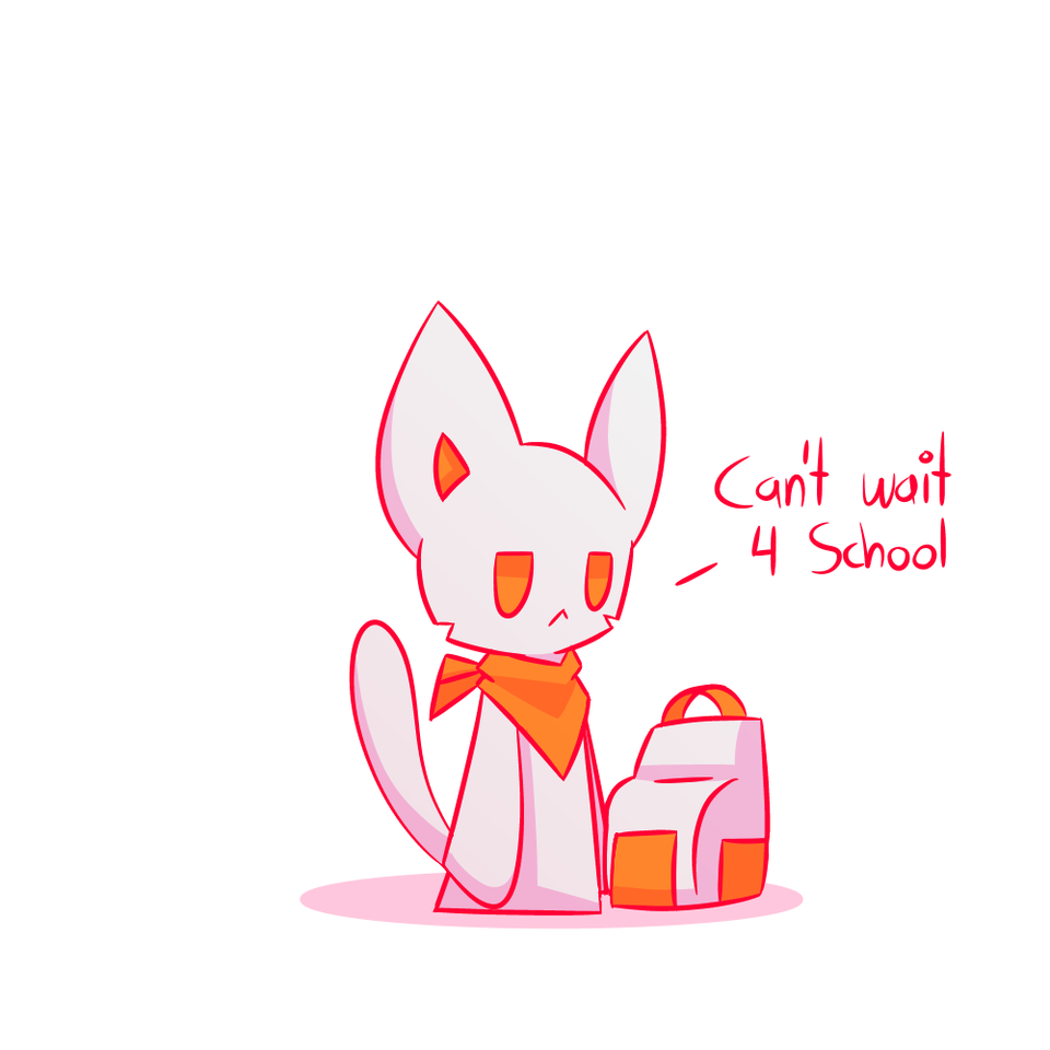 End Of School Holiday Illust of PopTwist school medibangpaint cat End cute Bag Puns