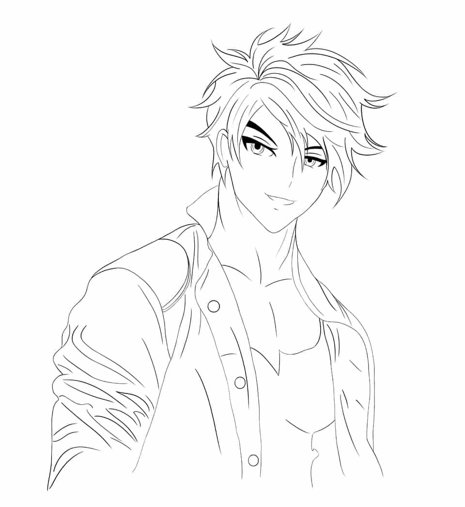 doom smile Illust of brave john April.2020Contest:Color ARTstreet_Ranking Original_Illustration_Contest medibangpaint line_art hero cool manga man